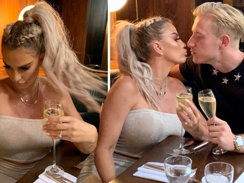 Katie Price and Kris Boyson's engagement branded 'fake' by friends as couple celebrate with toast