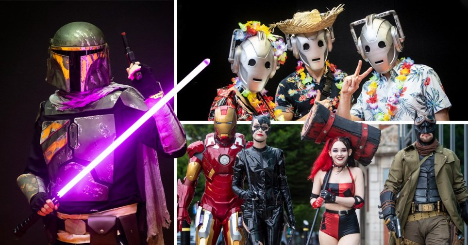 Marvel and Star Wars heroes take over Manchester Comic Con as fans show off their best cosplay