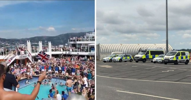 A clown was not the cause of a 'mass brawl' on the Britannia cruise ship, police said (Picture: PA)