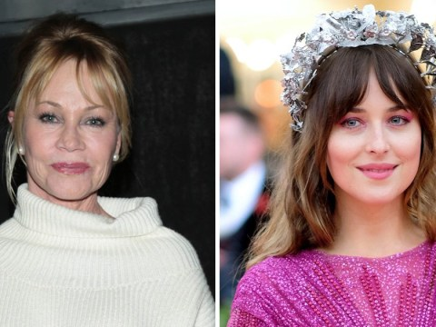 Dakota Johnson looks casual but trendy as she hangs out with mother Melanie Griffith