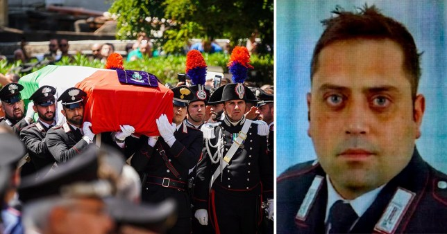 Italy's military chaplain, Archbishop Santo Marciano, said Mr Cerciello Rega lived and died to safeguard others' lives