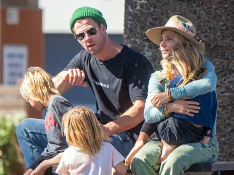 Chris Hemsworth returns to quiet life in Byron Bay as he heads out with Elsa Pataky and kids