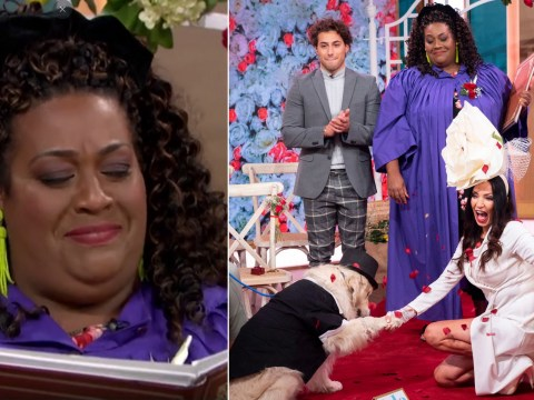 Alison Hammond officiates wedding in hysterics as woman marries golden retriever live on This Morning