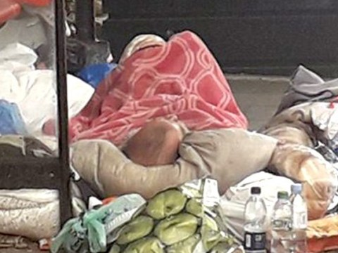 Homeless man left to die in bus stop 'like trash on the road'