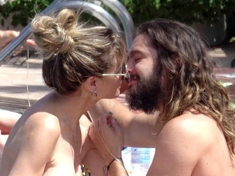 Heidi Klum and husband Tom Kaulitz kiss by the pool in Capri days before second wedding
