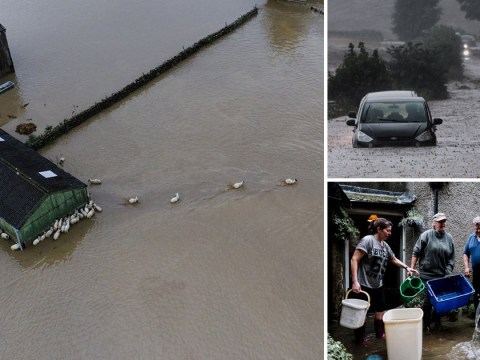 Biblical floods wash away bridge and ruin homes in North Yorkshire