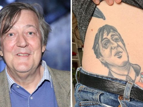 Woman gets Stephen Fry tattooed on her belly and he's pretty pleased with it