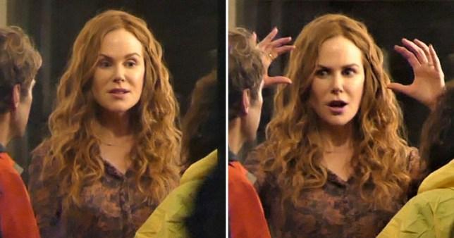 Nicole Kidman filming The Undoing