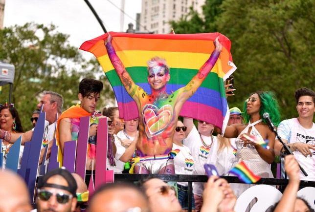 NEW YORK, NY - JUNE 30: Frankie Grande attends Pride March - WorldPride NYC 2019 on June 30, 2019 in New York City. (Photo by James Devaney/Getty Images)