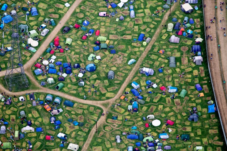 Glastonbury from the sky as clear-up mission gets underway | Metro News