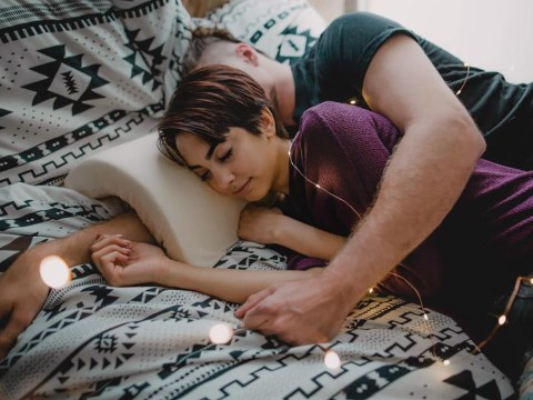 Genius spooning pillow protects your arm from going numb while you cuddle