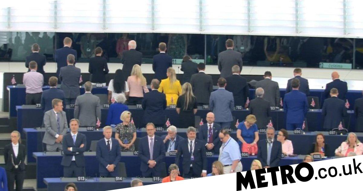 By turning their back to EU anthem MEPs turned their back on