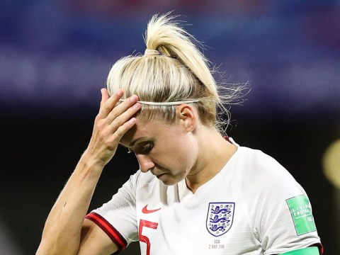 England star Steph Houghton slams Lindsey Horan as her 'ridiculous' celebrations interrupt interview