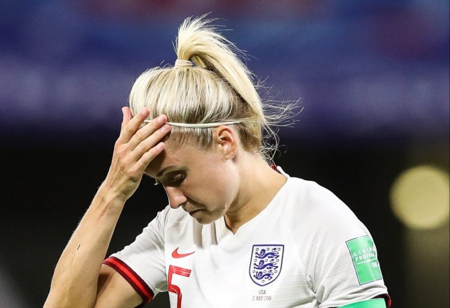 England captain Steph Houghton hit out at Lindsey Horan's celebrations in the tunnel