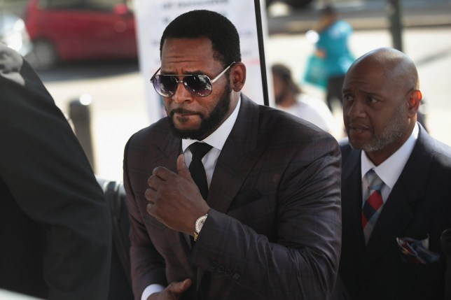 R Kelly arrives at the Leighton Criminal Courts Building
