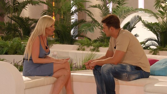 Love Island's Amy and Curtis