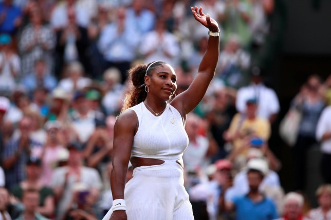 Tennis - Wimbledon - All England Lawn Tennis and Croquet Club, London, Britain - July 4, 2019 Serena Williams of the U.S. celebrates after winning her second round match against Slovenia's Kaja Juvan REUTERS/Andrew Couldridge