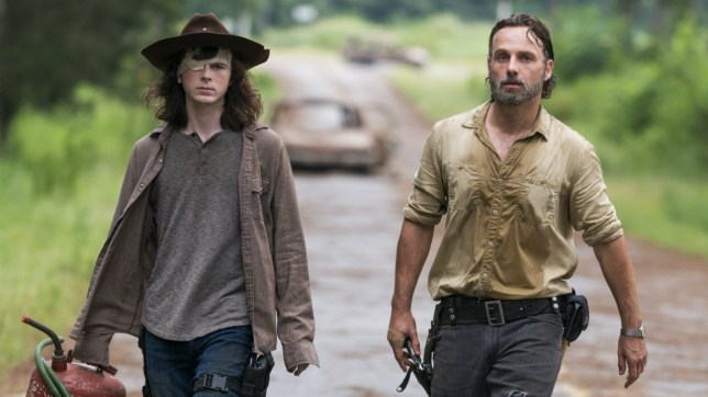 The Walking Dead Rick Grimes and Carl Grimes