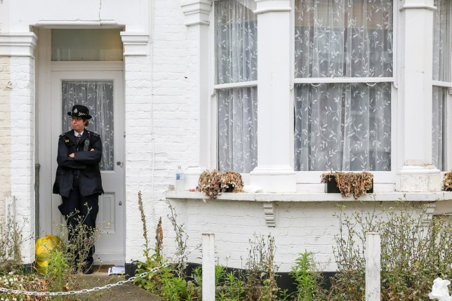 ? Licensed to London News Pictures. 07/07/2019. London, UK. A police officer guards the entrance of at a house on Livingstone Road, Bounds Green in Enfield, North London where a woman and three girls?were stabbed before noon on Saturday 6 July 2019. According to the Met Police, the condition of the woman, in her 30s, and?two girls, both aged under 12 is now stable and non life-threatening after they were treated for serious stab wounds. The third victim aged 11, remains in a critical condition. A man has been arrested on suspicion of attempted murder. Photo credit: Dinendra Haria/LNP