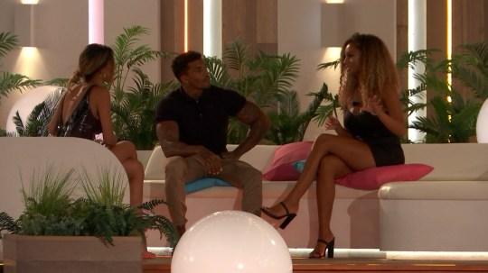 Love Island's Amber, Michael and Joanna