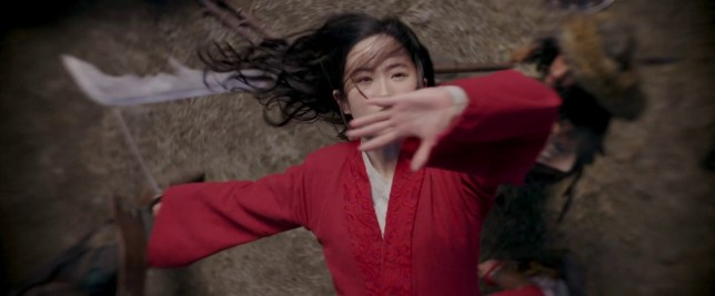 A still from the trailer for Mulan