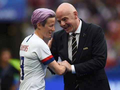 Megan Rapinoe demands FIFA step up after Gianni Infantino booed at World Cup final