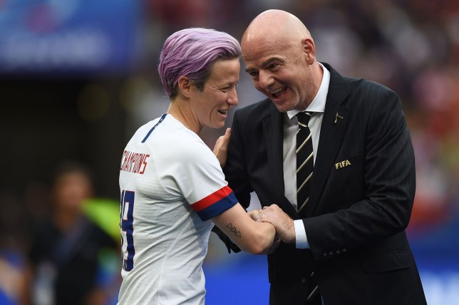 Gianni Infantino was booed by supporters during the trophy presentation