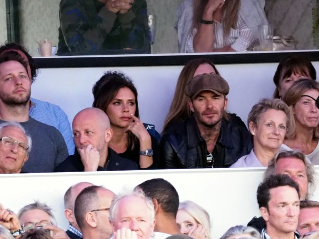 David and Victoria Beckham enjoy date night watching Barbra