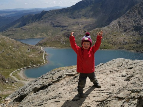 Toddler becomes youngest person to climb Britain's three highest mountains