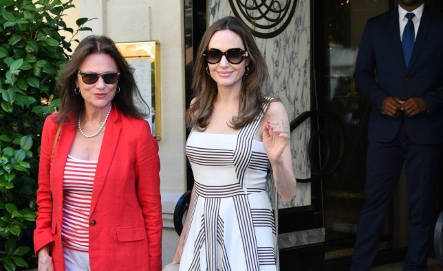 Angelina Jolie and Jacqueline Bisset leaving their hotel in Paris, France, July9 2019. 09 Jul 2019 Pictured: Angelina Jolie and Jacqueline Bisset. Photo credit: KCS Presse / MEGA TheMegaAgency.com +1 888 505 6342