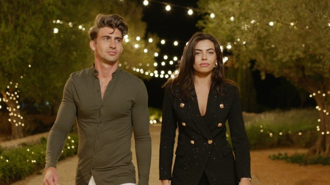 Chris Taylor and Francesca Allen enter the Love Island villa