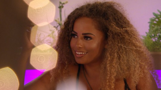 From ITV Studios Love Island: SR5: Ep32 on ITV2 Pictured: Marvin and Amber talk. This photograph is (C) ITV Plc and can only be reproduced for editorial purposes directly in connection with the programme or event mentioned above, or ITV plc. Once made available by ITV plc Picture Desk, this photograph can be reproduced once only up until the transmission [TX] date and no reproduction fee will be charged. Any subsequent usage may incur a fee. This photograph must not be manipulated [excluding basic cropping] in a manner which alters the visual appearance of the person photographed deemed detrimental or inappropriate by ITV plc Picture Desk. This photograph must not be syndicated to any other company, publication or website, or permanently archived, without the express written permission of ITV Picture Desk. Full Terms and conditions are available on the website www.itv.com/presscentre/itvpictures/terms For further information please contact: james.hilder@itv.com / 0207 157 3052