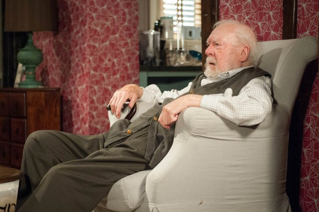 Freddie Jones playing Sandy Thomas in Emmerdale.