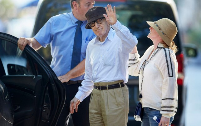 Director Woody Allen during a set new film in San Sebastian on Wednesday 10 July 2019. Pictured: Woody Allen Ref: SPL5103112 100719 NON-EXCLUSIVE Picture by: GTres / SplashNews.com Splash News and Pictures Los Angeles: 310-821-2666 New York: 212-619-2666 London: 0207 644 7656 Milan: 02 4399 8577 photodesk@splashnews.com United Arab Emirates Rights, Australia Rights, Canada Rights, Denmark Rights, Egypt Rights, Ireland Rights, Finland Rights, Israel Rights, Jordan Rights, South Korea Rights, Lebanon Rights, Norway Rights, New Zealand Rights, Qatar Rights, Saudi Arabia Rights, South Africa Rights, Singapore Rights, Sweden Rights, Thailand Rights, Turkey Rights, Taiwan Rights, United Kingdom Rights, United States of America Rights