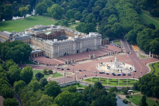 Buckingham Palace, London, 2006. Aerial view. Artist: Historic England Staff Photographer. (Photo by English Heritage/Heritage Images/Getty Images)