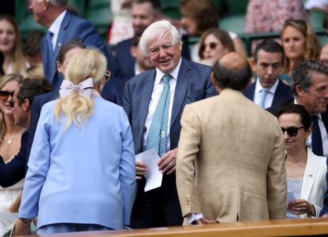 Tennis - Wimbledon - All England Lawn Tennis and Croquet Club, London, Britain - July 12, 2019 David Attenborough in the royal box before the semi-final match between Serbia's Novak Djokovic and Spain's Roberto Bautista Agut REUTERS/Toby Melville