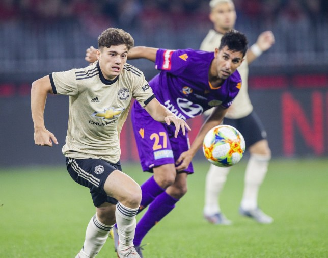 Daniel James impressed on his Manchester United debut against Perth Glory