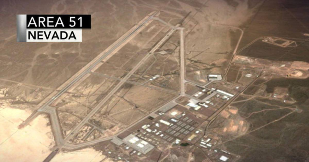 Arial perspective of Area 51 in Nevada