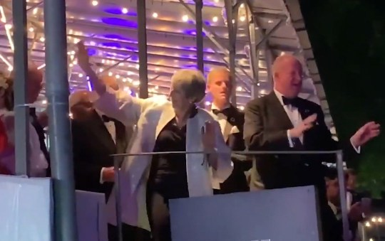 (Picture: PA) Theresa May let her hair down by throwing some shapes to Dancing Queen on a busy weekend for the outgoing prime minister. Mrs May was spotted dancing to the Abba hit - her walk-on music at the Tory Party conference last year - as performed by tribute band Bjorn Again at Henley Festival. She was earlier spotted in the grandstand, enjoying the music and dancing to other hits including Mamma Mia and Take A Chance.