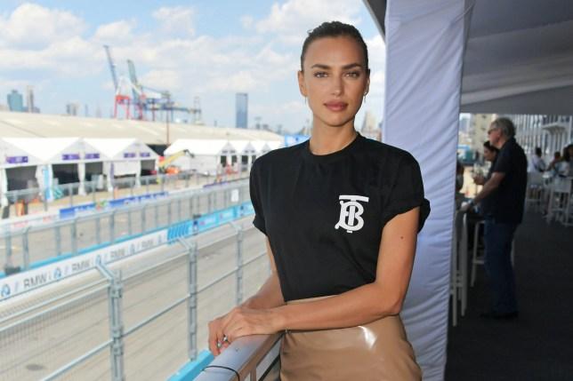 Irina Shayk sets pulses racing at Formula E Championship in New York following Bradley Cooper 'split'