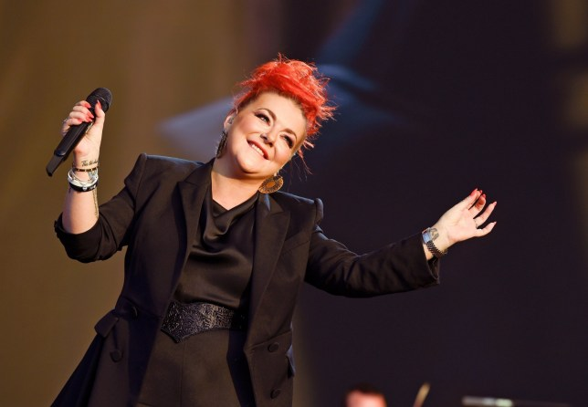 Sheridan Smith looks confident on stage as she debuts new orange hairstyle after opening up about mental health battle