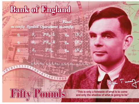 Alan Turing announced as face of new £50 banknote