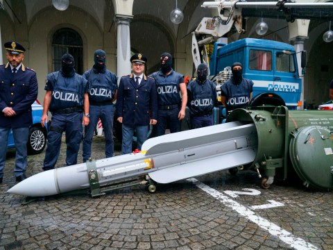 Weapons, missile and Nazi memorabilia seized from far-right extremists in Italy