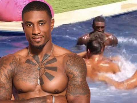 Love Island's Ovie Soko proves those swimming lessons helped as he gets rowdy in the pool