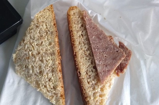 The sandwich was supposed to be corned beef and pickle