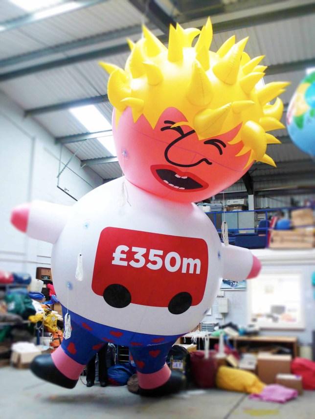 A giant inflatable Boris Johnson