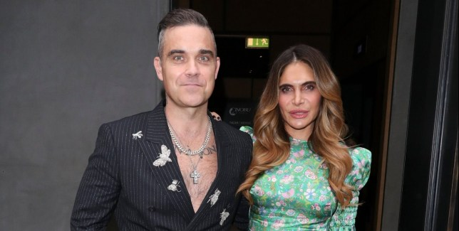 BGUK_1657786 - London, UNITED KINGDOM - Robbie Williams and Ayda at the ITV Summer Party at Nobu Hotel Shoreditch Pictured: Robbie Williams and Ayda BACKGRID UK 17 JULY 2019 UK: +44 208 344 2007 / uksales@backgrid.com USA: +1 310 798 9111 / usasales@backgrid.com *UK Clients - Pictures Containing Children Please Pixelate Face Prior To Publication*