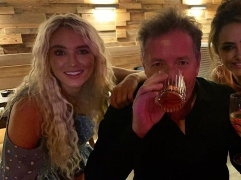 Piers Morgan is a total 'bev' as he parties with Love Island's Lucie Donlan
