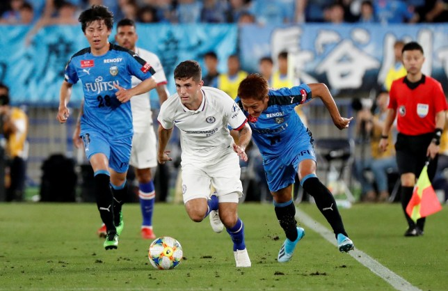 Christian Pulisic made his Chelsea debut as a second half substitute against Kawasaki Frontale