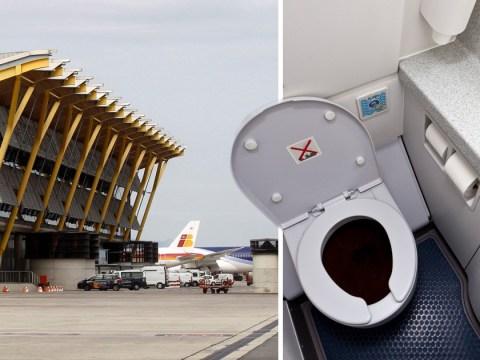 Mummified foetus found in plane toilet at Madrid airport